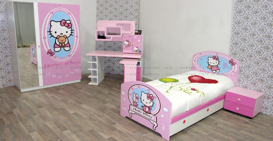 chambre-enfants-Hello-Kitty